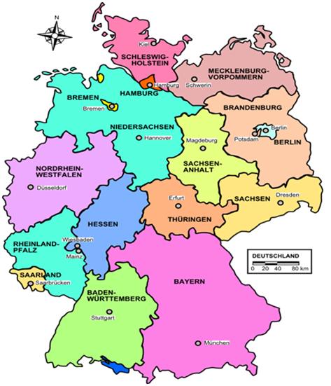 La Cartina Geografica Della Germania.4 La Distribuzione Diseguale Dell Emigrazione Italiana Verso La Germania Osservatorio Degli Italiani A Berlino
